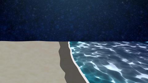 ANIMATION BACKGROUND【NIGHT BEACH】 Animation
