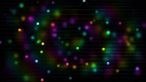 虹色の粒の動画 CG動画