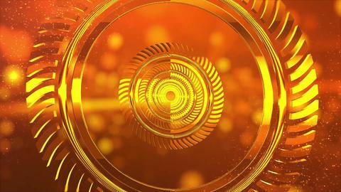 金色のVJ用トンネル背景素材 CG動画