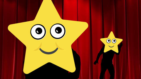ダンスする星の動画素材 CG動画