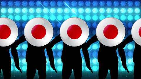 japan ball dance video Animation