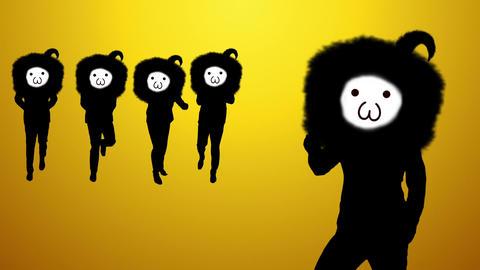 Fun person dance video Animation