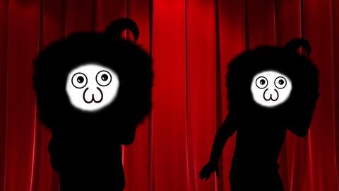 ダンスする怪しい人 CG動画