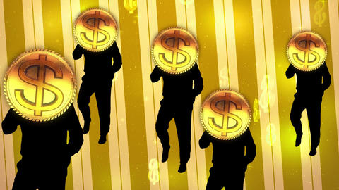 Money coins dance video Animation