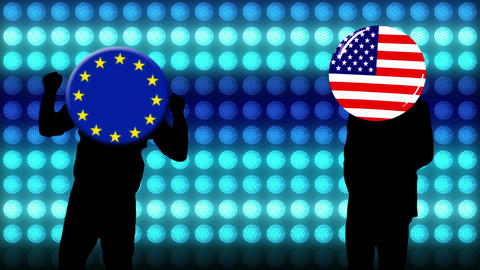 Happy dancing background America and EU Animation
