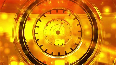 金色のトンネルの動画 VJ CG動画