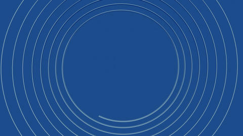 Metal spiral of silver rendering gradually on an azure blue background towards GIF