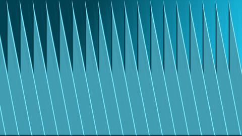 Scrolling blue 3d triangle shapes, animated video background, abstract movie, 4k Animation