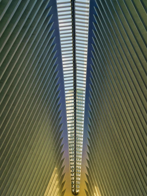 Transportation Hub (Oculus) in New York city in Financial District interior view フォト