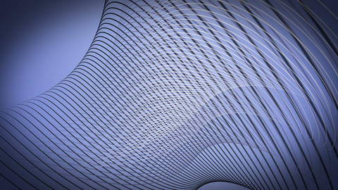 Fantastic video animation with wave object in motion, loop HD CG動画