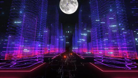 Digital city 01 Videos animados