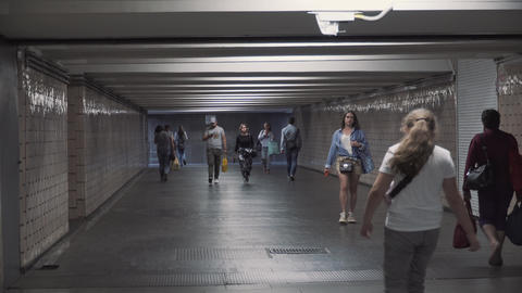 Ukraine, Kiev August 3, 2020. Underground passage and entrance to the Kiev metro Acción en vivo