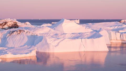 Climate change concept video with Iceberg from glacier in arctic nature Live Action