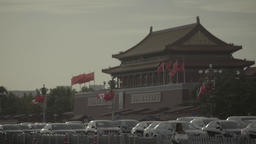 Tiananmen. Beijing. China. City view of Beijing Footage
