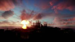 Beautiful timelapse sunrise over city Animation