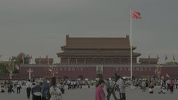 The people of China at Tiananmen square . Beijing. China Footage