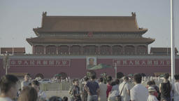 A lot of people on Tiananmen square. Beijing. China. Asia Footage