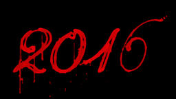 Blood 2016, Horror New Year, against black Animation