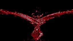 Blood Splash against black Animation