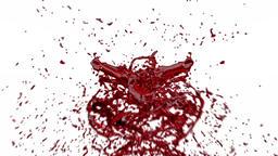 Blood Splash against white, Alpha Animation