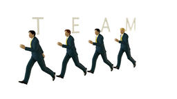 Business TEAM walking against white Animation