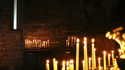 Burning candles, Church of Saint Peter, Portovenere Footage