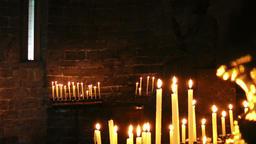 Burning candles, Church of Saint Peter, Portovenere Footage