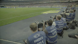 Photo.Photographers at the stadium during the match. Media. Press Footage