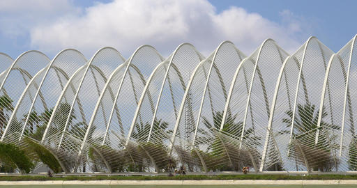 L'Umbracle Sculpture Garden of City of Arts and Sciences Footage