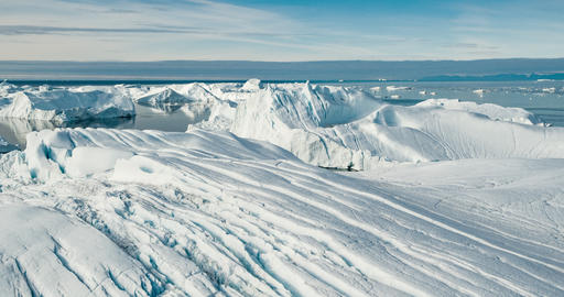 Global warming - Greenland Iceberg landscape of Ilulissat icefjord with iceberg Live Action