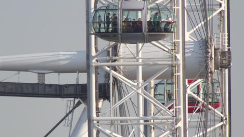 Timelapse video of people on Millennium Eye, London, England, UK Acción en vivo