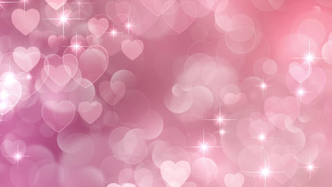heart particle background bokeh loop Animation