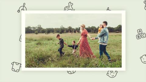 Family Slideshow Plantilla de After Effects