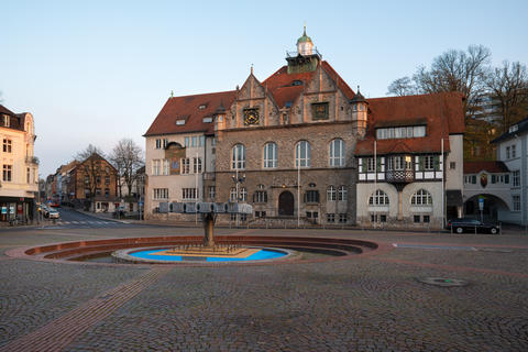 Townhall of Bergisch Gladbach at sunrise, Germany Photo