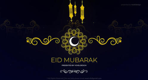 Eid Mubarak Ramadan Classic Opener After Effects Template