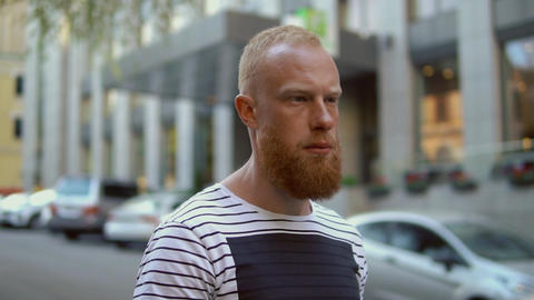 bearded ginger guy outdoor Live Action