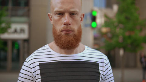 bearded redheaded pedestrian Live Action