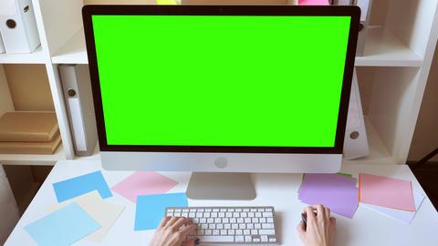 unrecognizable woman using computer Live Action