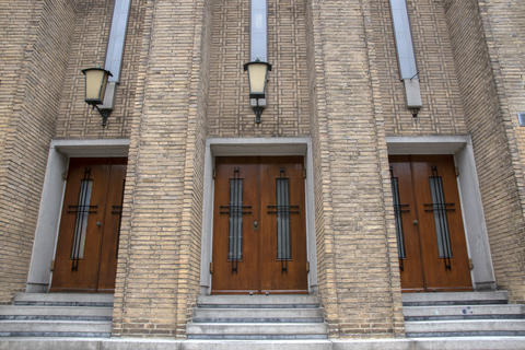 Entrance At The Maarten Luther Church At Amsterdam The Netherlands 14-7-2020 フォト