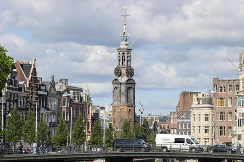 Historical Canal Houses At The Amstel River Amsterdam The Netherlands 22-7-2020 フォト