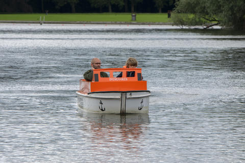Pedalo At The Amsterdamse Bos At Amstelveen The Netherlands 29-7-2020 フォト