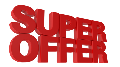 Super Offer Animated 3D Text Videos animados