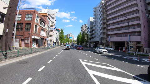 A pov timelapse of driving cityscape at Oume avenue in Tokyo Live Action