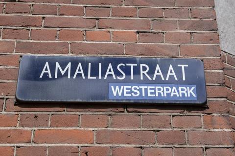 Street Sign Amaliastraat At Amsterdam The Netherlands 16-7-2020 フォト