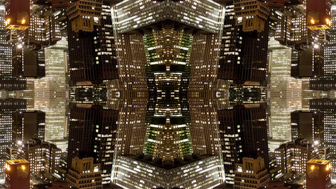 Kaleidoscopic video of New York city Acción en vivo