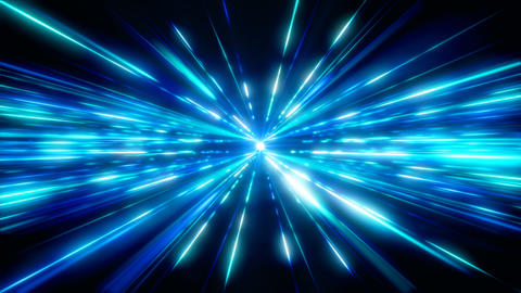 Blue Space Light Animation