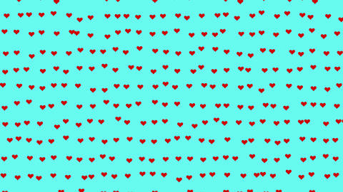 Valentine's Day red hearts animation Animation