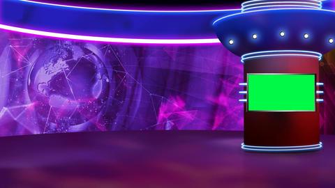 News TV Studio Set 320- Virtual Green Screen Background Loop ライブ動画