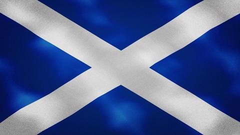 Scotland dense flag fabric wavers, background loop Animation