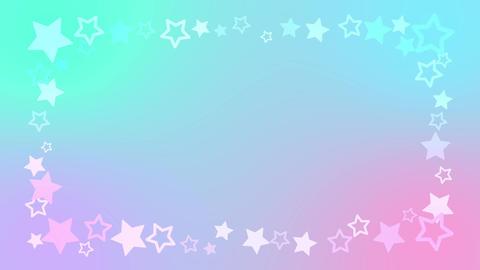 レインボーカラーがキュートな星のアニメーションフレーム After Effectsテンプレート